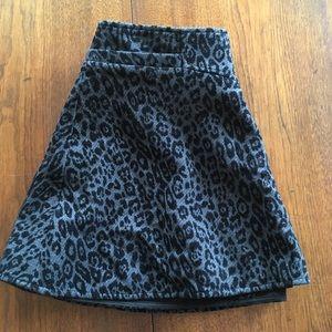 Thakoon Addition Black Leopard Print Miniskirt